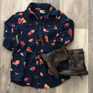 Old Navy Bird Dress and Gap boots